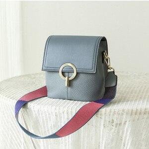 Image 5 - Сумка ведро BRIGGS из натуральной кожи, женская сумка через плечо, роскошная дизайнерская сумка через плечо