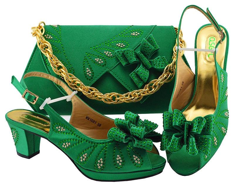 Parti Ensemble Green Sacs Le pink À Chaussures Pour Avec Printemps Sac magenta dark gold Correspondre Nigeria Et Au Conceptions fuchsia purple Royal 2019 De Blue Italien a7z1x5
