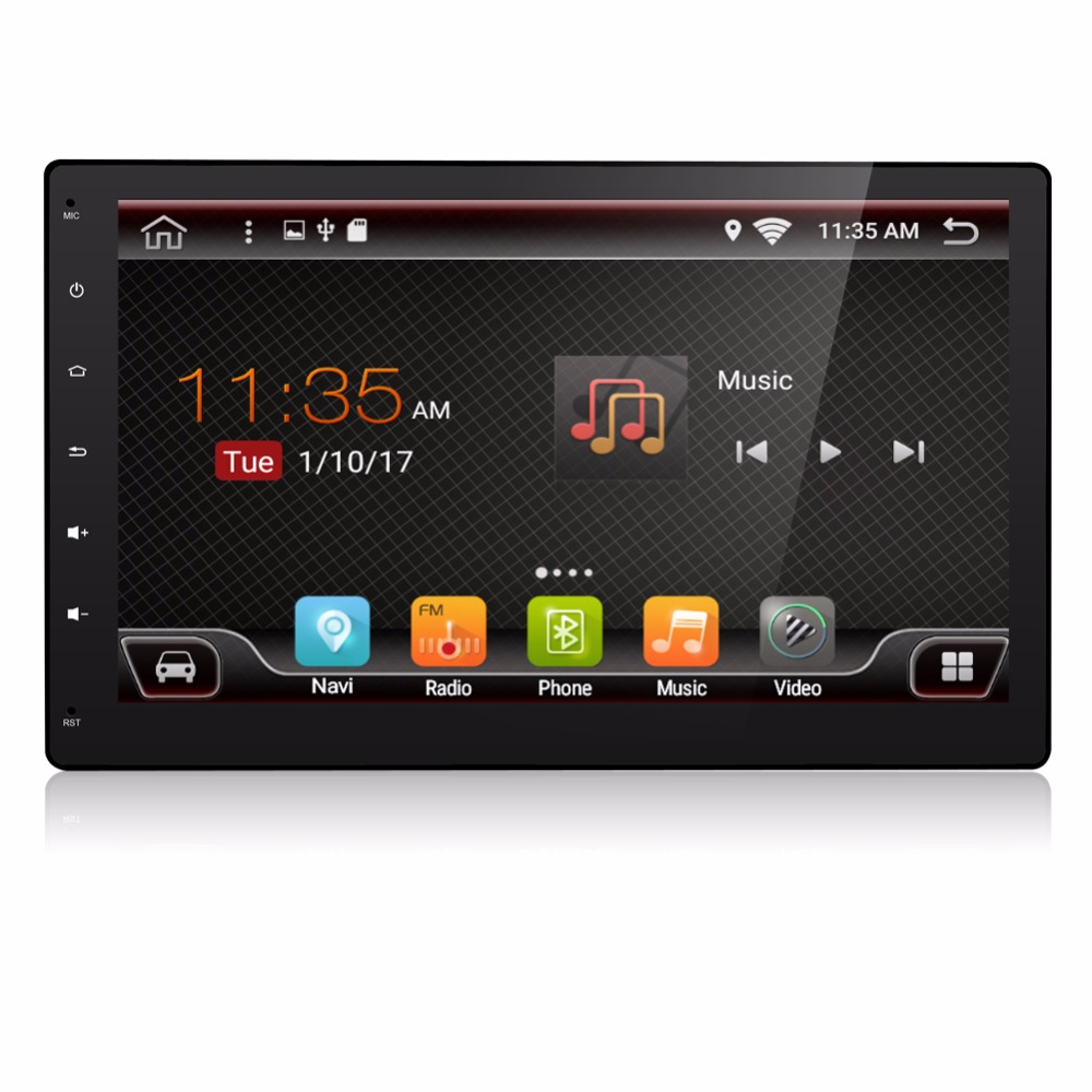 BOSION 10.1 Inch 2Din 1024*600 Android 7.1 Car PC Tablet 2 Din GPS Navigation