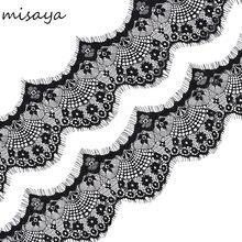 Misaya 3Yards/lot Small Mini Eyelashes Lace Trim 2 Colors High Quality Lace Fabric Handmade DIY Wedding Clothing Accessories