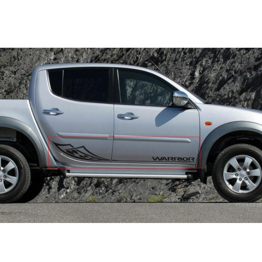 Autocollants de voiture 2 pc guerrier barbare tribal remplacement porte latérale accessoires de voiture décalque pour mitsubishi l200 triton pick-up autocollant