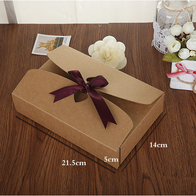 100pcs/lot 21.5*14*5cm <font><b>big</b></font> size Paper Craft Boxes, underwear <font><b>packaging</b></font> <font><b>gift</b></font> boxes Sock Packing <font><b>Box</b></font> image