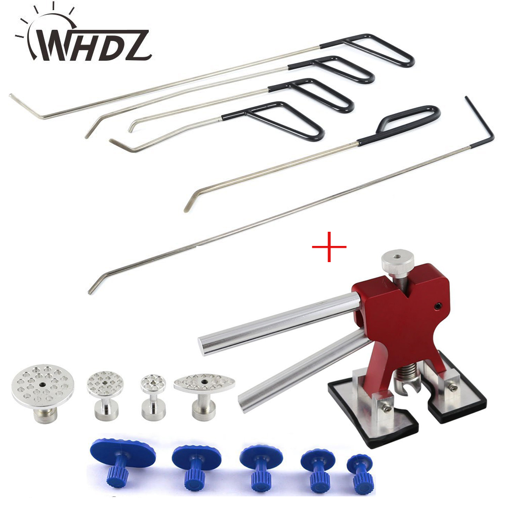 PDR Tools Hail Removal Dent Puller Dent Puller Lifter with 9pcs Glue Puller tab Hail removal Paintless Dent Repair Tools цена