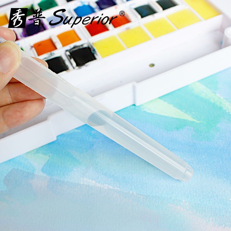 superior 12/18/24/30/36/40 barvy Pevné akvarelové barvy Polopenze - Školní a vzdělávací materiály - Fotografie 3