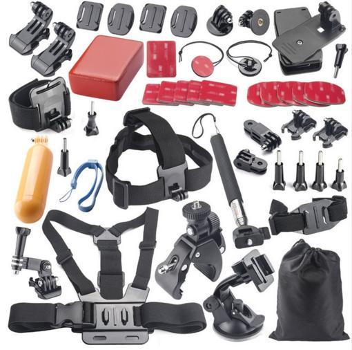 For GoPro Accessories Kit HERO 4 3+ 3 2 Surface Quick Release Buckle + Surface J-Hook Buckle For Hero Camera Set ri 008 activity connection chain accessories for gopro hero 4 3 3