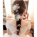Bridal Pearl Crystal Rhiestone Hair Clip Bridesmaid Jewelry Pearl Diamante Hairpin Hairgrip Accessories
