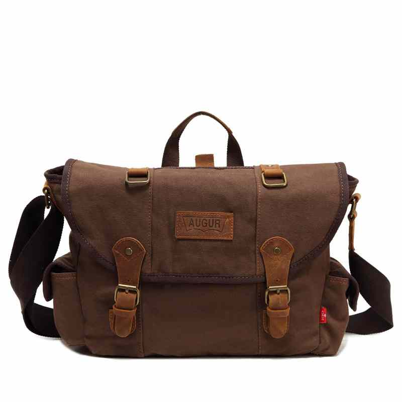 19th Century Mens Retro Canvas With Crazy Horse Leather Shoulder Bag Student Bags Kit In Crossbody From Luggage On Aliexpress