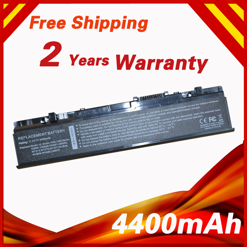 4400mAh Battery for <font><b>Dell</b></font> <font><b>Studio</b></font> <font><b>1535</b></font> 1536 1537 1555 1557 1558 PP33L PP39L 312-0701 312-0702 A2990667 KM958 KM965 MT264 WU946 image