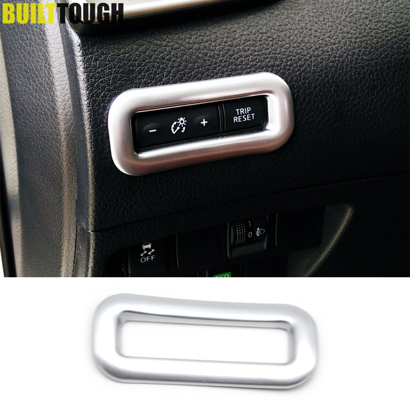 For Nissan Rogue Sport Qashqai Rogue x-Trail 2014 - 2019 Chrome Dashboard Odometer Button Switch Cover Trim Decoration