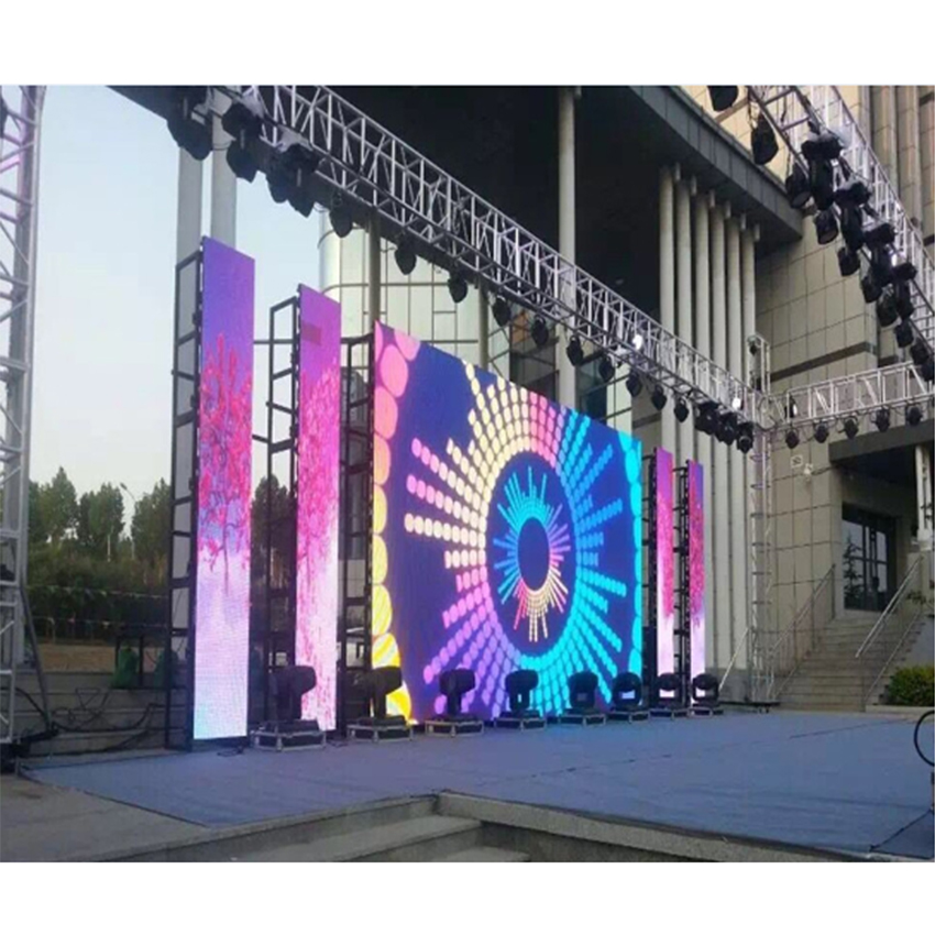 High Quality P4.81 SMD1921 LED Display 500*500mm Die Casting Aluminum Cabinet Rental RGB Outdoor Waterproof LED Screen