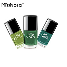 MISS NORA Army Green Color  Gel Nail Polish 6ml Water-based Lamp Semi Permanent Nails Art Top Primer Cuticle Oil