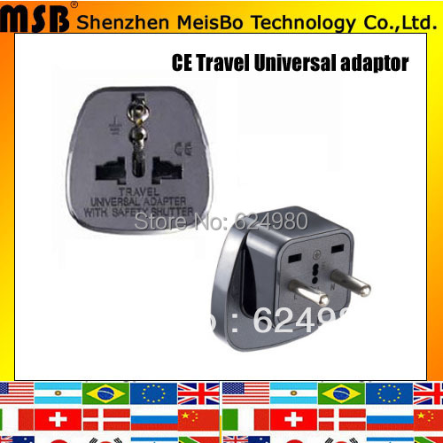 Universal travel 10A 250V ABS UAE power converter uk to eu adapter plug for South America 500pcs free shipping