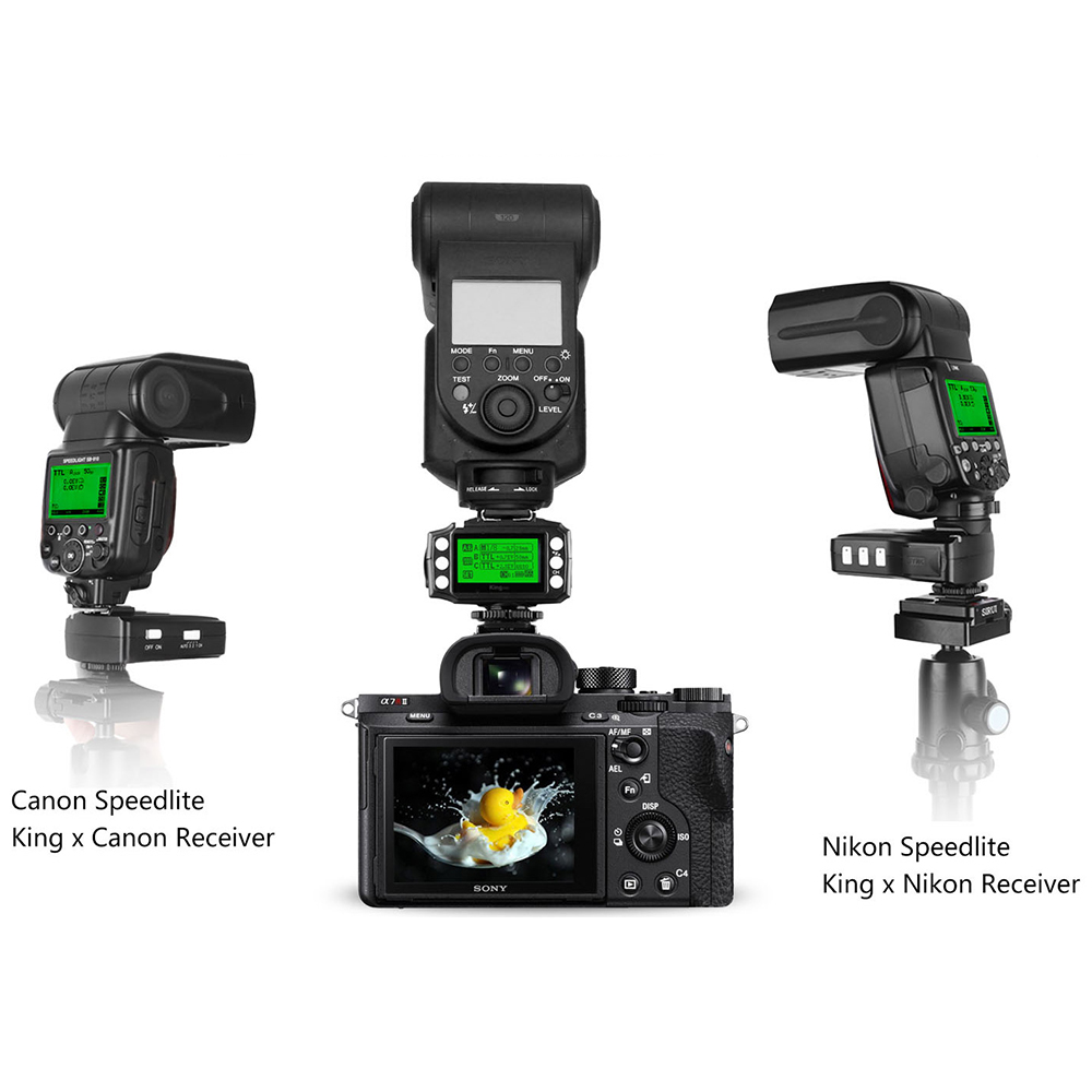 PIXEL KING PRO Flash Trigger үшін Sony A7 A7R A7RII A6300 A65 - Камера және фотосурет - фото 2