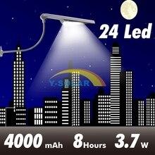 Updated Super Bright 24 LEDs Solar Street Light LED On the Wall Waterproof Solar Lamp Sensor Security Adjustable Spot Lighting