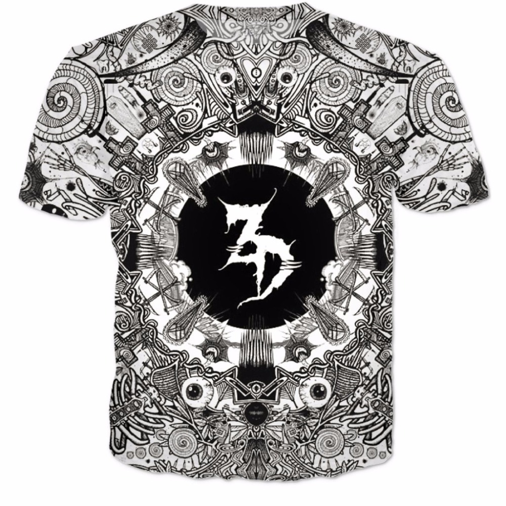 Fashion Clothing Zeds Dead T-Shirt Women Men T Shirt 3d Outfits Jumper T Shirt Harajuku Characters Tumblr Psychedelic Street