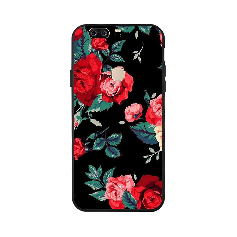 Ojeleye Fashion Black Silicon Case For Huawei Honor V8 Cases Anti knock Phone Cover HonorV8 KNT AL10 Covers in Fitted Cases from Cellphones Telecommunications