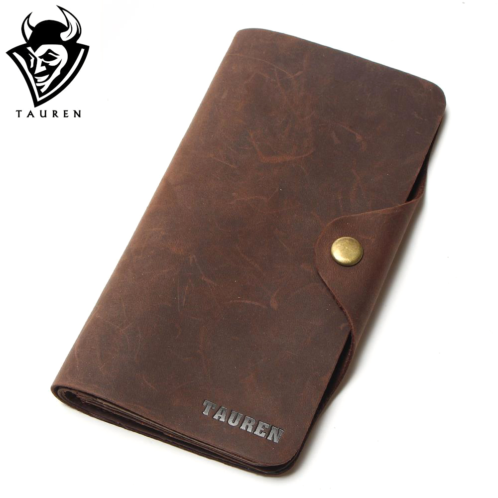 Free Ship Hot Selling Real Crazy Horse Leather Long Wallets For Men Money <font><b>Clip</b></font> Pursetravel Wallet Combination Price Men