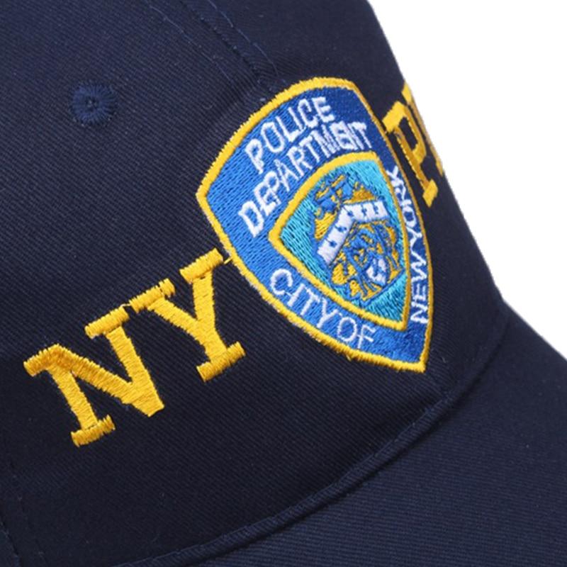 Nova moda polícia boné de beisebol bordado nypd tático