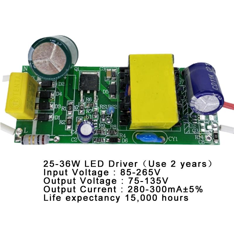1-3 Вт, 4-7 Вт, 8-12 Вт, 15-18 Вт, 20-24 Вт, 25-36 Вт Светодиодный драйвер питания встроенный постоянное современное освещение 85-265 в выход 300мА трансформат...