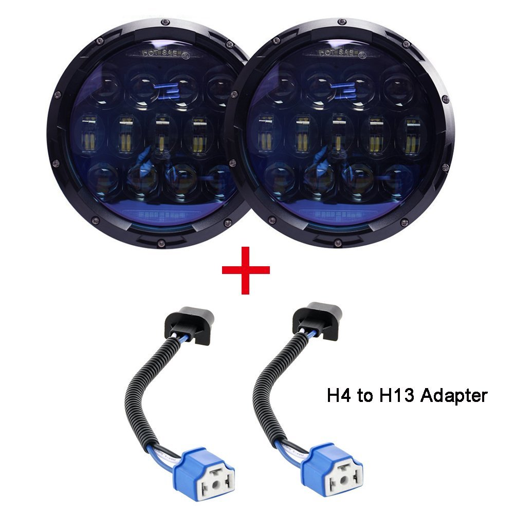 Day light led 7 inch headlights waterproof car led headlight high power auto h4 130w Car Light Assembly auto replacement parts new car styling auto h4 led bulb h7 lighting car led 12v lights h4 h7 led lamps light bulbs headlights for cars led headlights