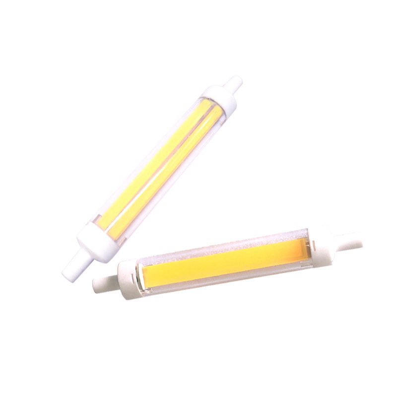 Dimmable R7S LED Glass Tube Light Ceramic COB Bulbs 7W 15W 28W 78mm 118mm Lamps