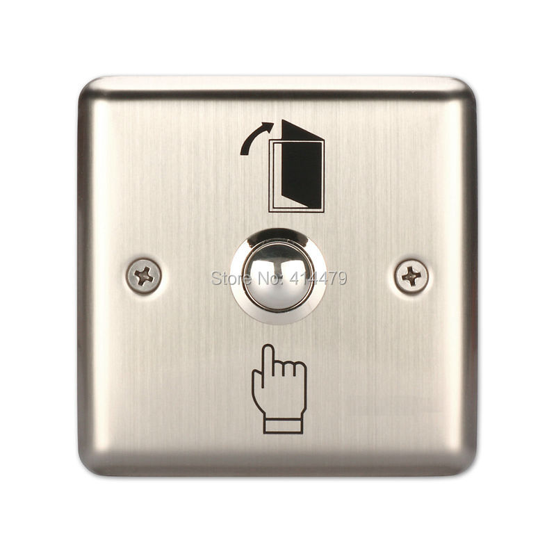 Back To Search Resultssecurity & Protection 2 Pcs Of Mool Aluminum Exit Door Strike Push Release Button Switch Panel For Access Control