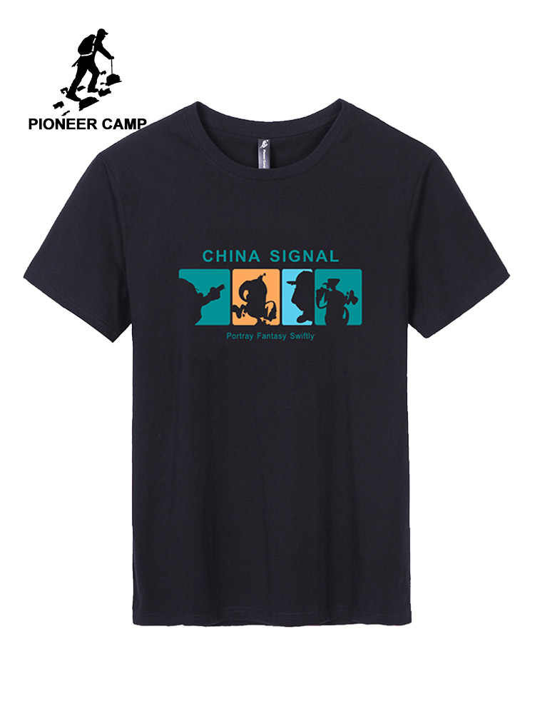 Pioneer Camp 2019 Novos Homens T-shirt da Moda Animal Print Girafa t camisa masculina Dos Homens Tops de Manga Curta Casuais Verão tee camisa