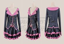 Japanese Hot Anime Vocaloid cosplay Hatsune Miku Sweet Devil cos Halloween party costume girls sweet uniforms Fight song clothes(China)