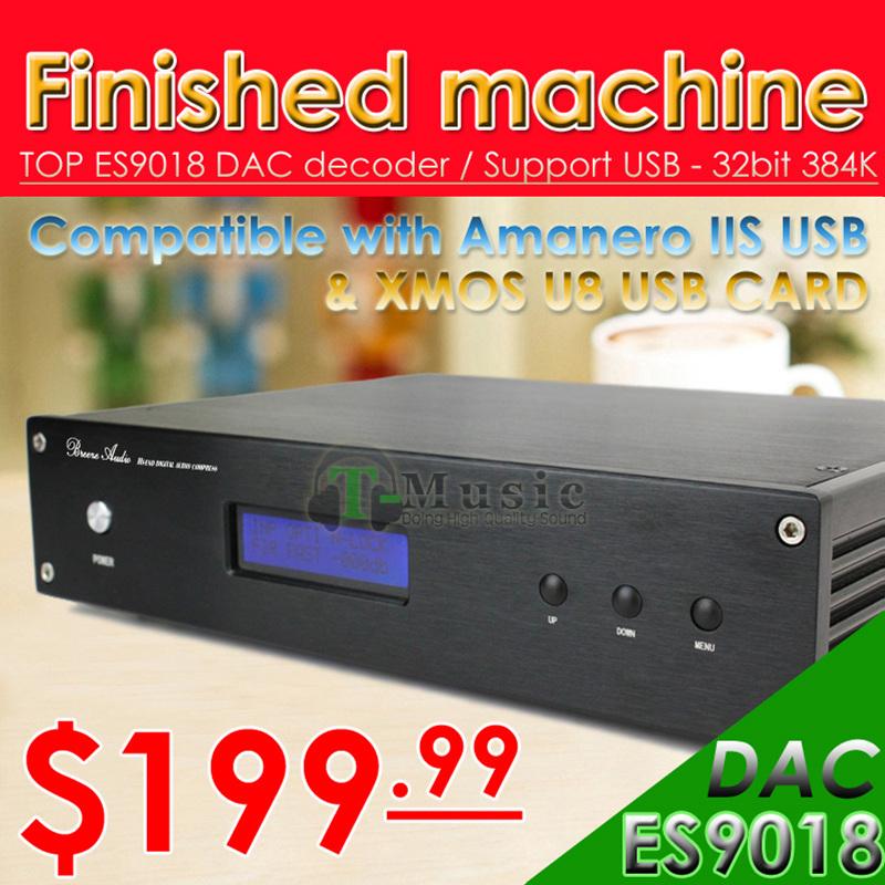 Prix pour Offre spéciale! TOP ES9018 DAC Décodeur Soutien XMOS/Amanero I2S USB 32Bit/384 K DSD Sortie XLR SYMÉTRIQUE