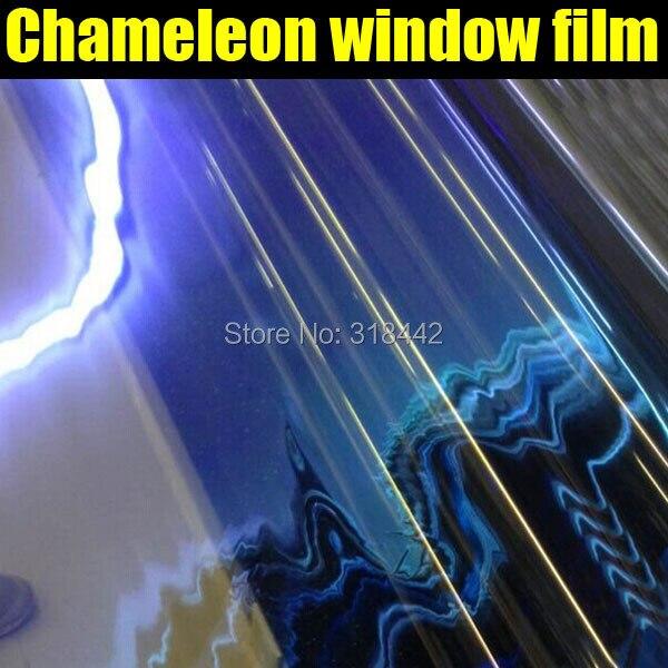 Populaire! Film de fenêtre de teinte caméléon 1.52*30 M pour voiture avec livraison gratuite
