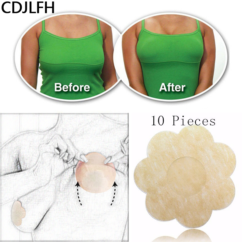 10Pcs Women's Sexy Strapless Bare Breast Lift Tape Adhesive Push Up Bra Seamless Nipple Cover Female Sticky Comfort Bra Extender