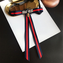 College Style bowtie Womens Tie Wedding Party Polyester Striped bowknot Classic Neck Wear Ribbon bowties Shirt  Accessories