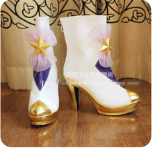Game LOL Star Guardian Janna Cosplay High-heeled Shoes with Custom Made Free Shipping