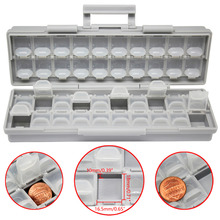 AideTek  Enclosure surface mount components assorted resistor capacitor plastics Storage transparent box Beads Storage BOXALL40
