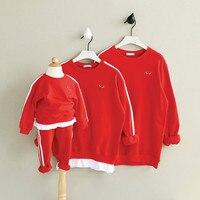 母息子娘服家族マッチング衣装クリスマス服セーター用子供ロングスリーブコットンシャツCC287