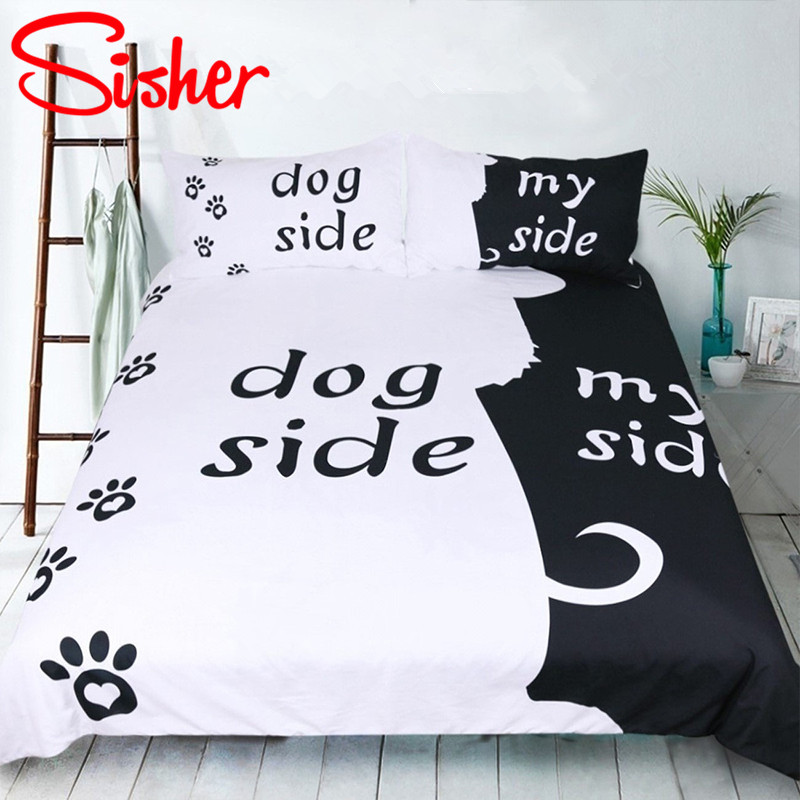 Sisher Home Textile Classic Black White Comforter Bedding Sets For Adults Duvet Cover Pillow 2/3 PieceSisher Home Textile Classic Black White Comforter Bedding Sets For Adults Duvet Cover Pillow 2/3 Piece