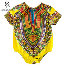 African Baby Cotton Clothes Romper Dashiki Print Kids Clothes Newborn Infant Boys Jumpsuits Children's Toddler Girls Clothing new born baby winter cotton jumpsuits warm hoodied romper kids boys girls suits mama toddler clothing