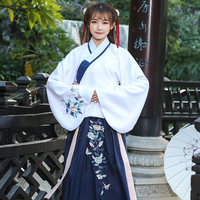Hanfu Dress Embroidery Ancient Costume Women Tang Dynasty Princess Fairy Dance Dress Stage Wear Chinese Classical Dance Wear