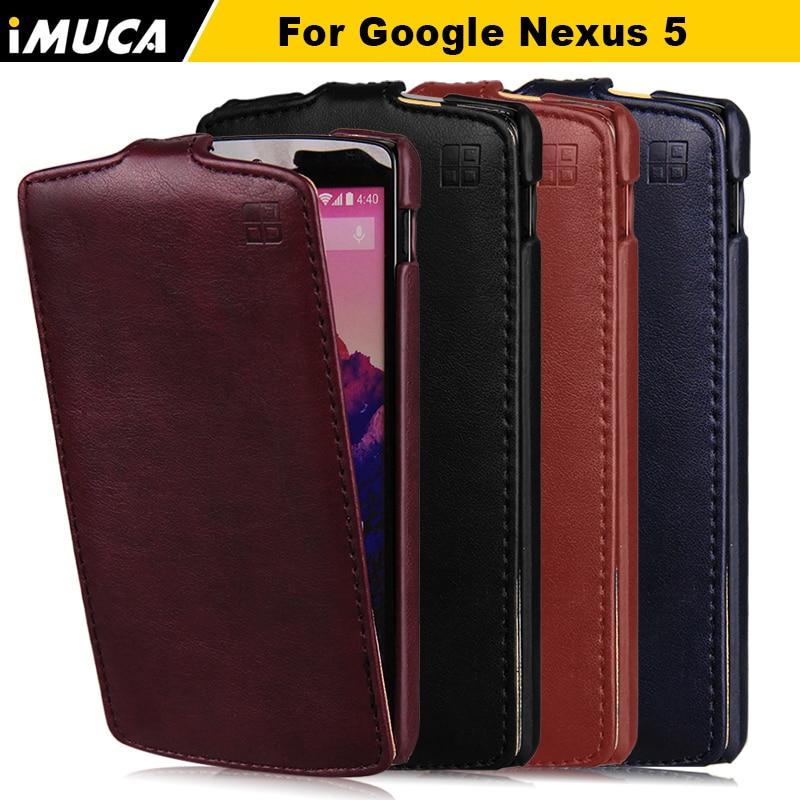 Imuca flip funda de cuero para lg google nexus 5 e980 Nexus5 D821 D820 4.95 ''Cu