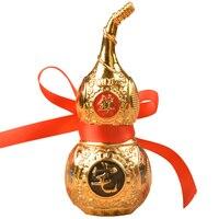 Китайский фэн шуй украшения Tai Chi Wu Lou Hu Lu Miniaturas медный сплав Тыква амулет украшения дома аксессуары Vintage30pcs