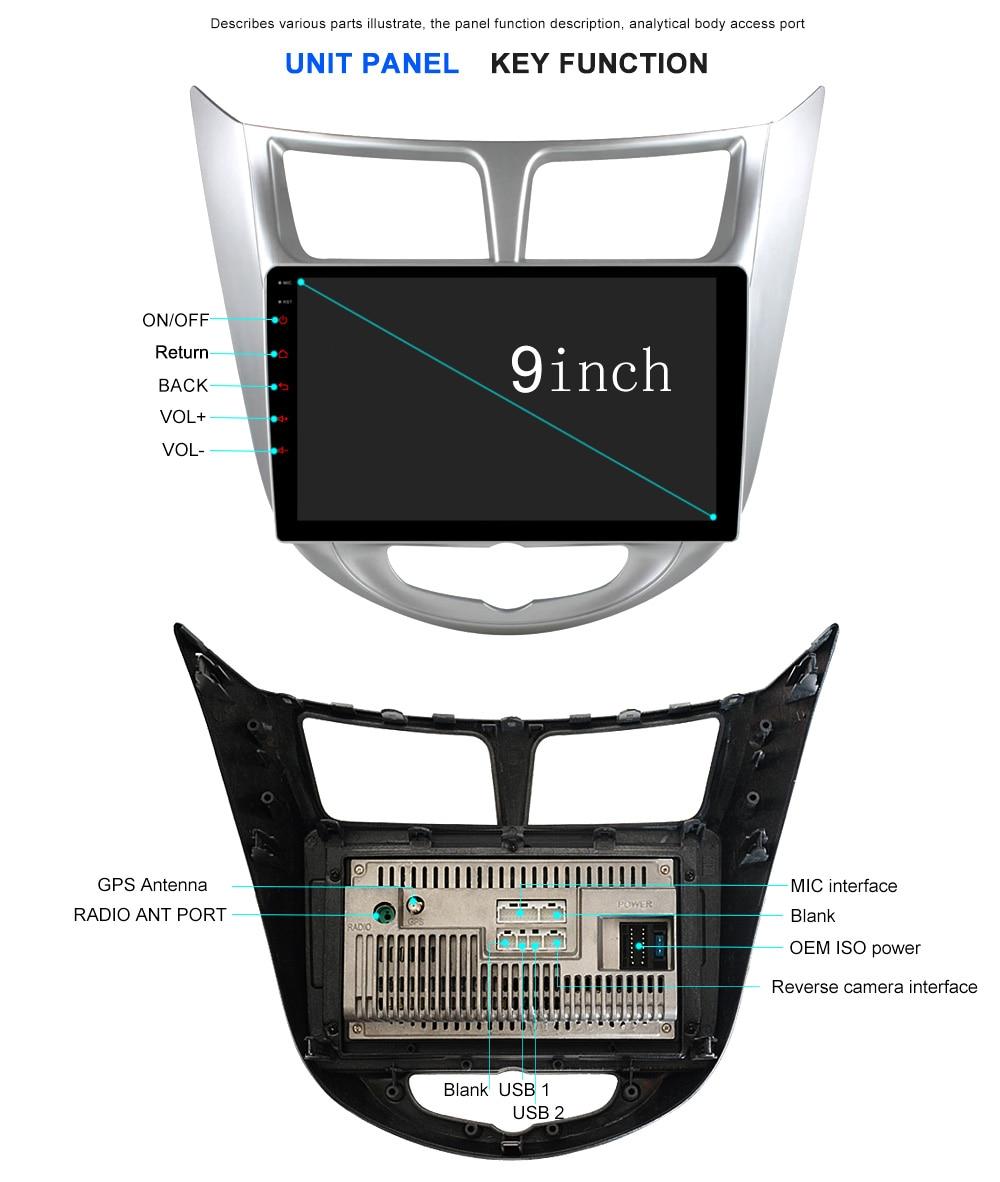 CRN9060 Octa 8 Core Android 7.1 Car dvd gps player for Hyundai Solaris Verna Accent car headunit radio player navigation