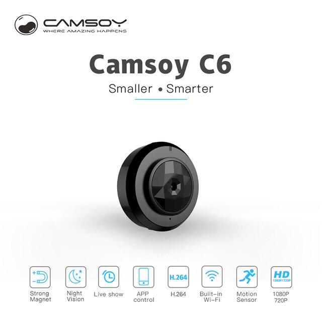 C6 Camsoy Cookycam Micro Mini Câmera Wi-fi Smartphone App IP Sem Fio HD 720 fc0bb24d4a