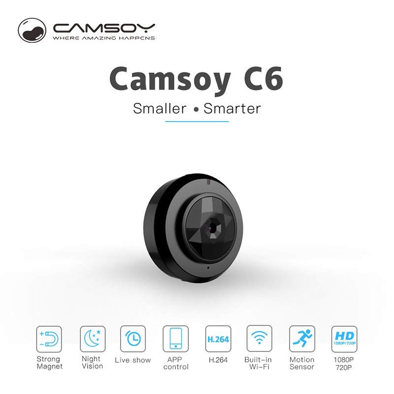 C6 Camsoy Cookycam Micro Wifi Mini Kamera Drahtlose HD 720 p Mit Nachtsicht Smartphone App IP Home Security Video camcorder