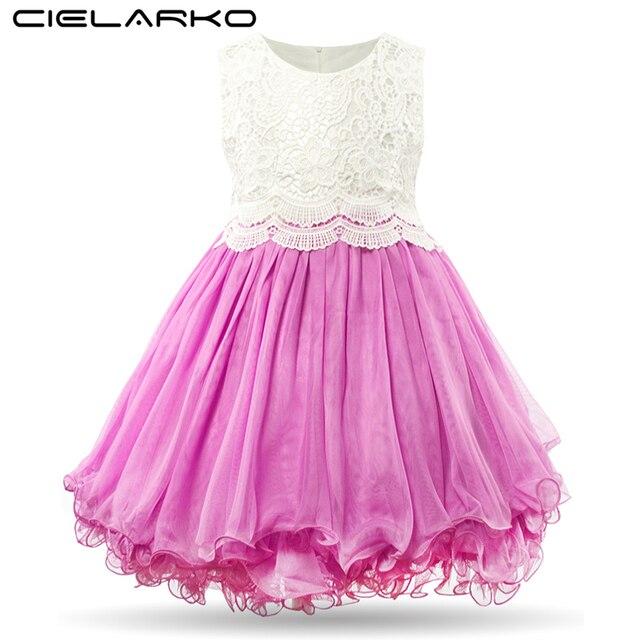 Cielarko Niñas Vestido de Encaje de Fantasía Niños Balón vestido de ...