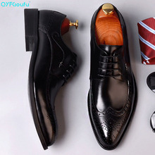 New Summer Men's Oxfords Shoes Genuine Leather Wedding Office high quality Mans Brogues Dress Shoe Suits Formal Shoe
