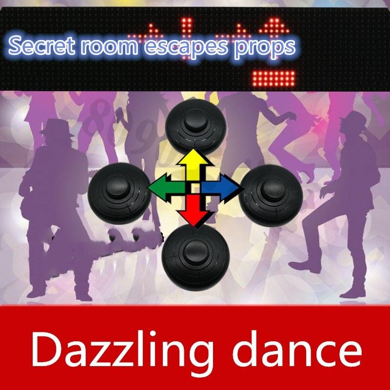Jeux de la vraie vie échapper aux accessoires de la salle éblouir danseur fini jeu accessoires takagisme jeu puzzle pour échapper salle jeu