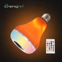 E27 Wireless Bluetooth Speaker Bulb with Flame Effect Light Music Playing LED Bulb RGB Colorful Dimmable Bulb LED Remote Control