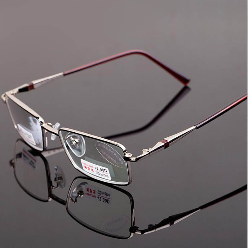 Ultralight Full Metal Frame <font><b>High</b></font> <font><b>Quality</b></font> Reading <font><b>Glasses</b></font> Women Men <font><b>Resin</b></font> Anti-radiation Aspheric Presbyopic Eyeglasses 1.5 3.0