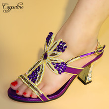 Capputine New Style Beautiful African Woman Shoe For Wedding Party Italian Elegant High Heels Shoes Wholesale Price