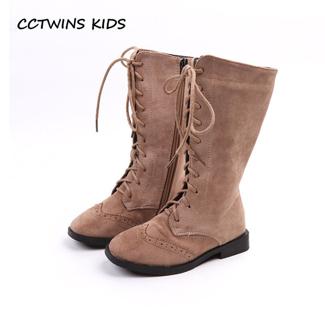 CCTWINS KIDS 2018 Winter Girl Fashion Princess Knee High Boot Children  Leather Suede Boot Baby Brand Warm Shoe H039 da4bbbe20698